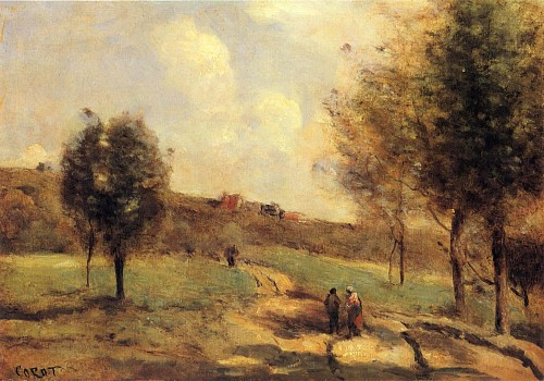Jean Baptiste Camille Corot - Coubron - Route Montante