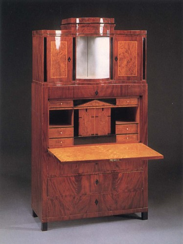Exhibition: Spring Selections, Work: 19th Century AUSTRIAN Biedermeier Mahogany, Fruitwood and Burl Walnut Fall-Front Secrétaire